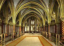 The Holy Chapel, interior of lower chapel, Paris, France - Sainte-Chapelle — Wikipédia Sainte Chapelle Paris, Saint Chapelle, Fine Art Prints, Framed Prints, Poster Prints, Art Posters, Saint Louis, Art Model, Belle Epoque