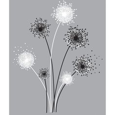 Room Mates Deco Graphic Dandelion Giant Wall Decal & Reviews | Wayfair