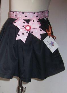 Fancy girl skirt bow skirt size 98-104 by SorinelaSavini on Etsy