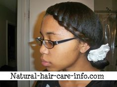 Easy natural style for teens on straightened hair.