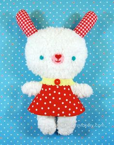 This is the cutest stuffed bunny from allsorts.typepad.com! The site has a bunch more freebies like this pattern.