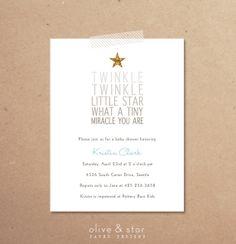 nursery rhyme baby shower invitation set by OliveandStar on Etsy