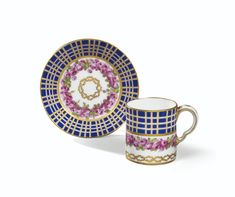 A SÈVRES SOFT-PASTE CUP AND SAUCER, DATED 1780 | Sotheby's