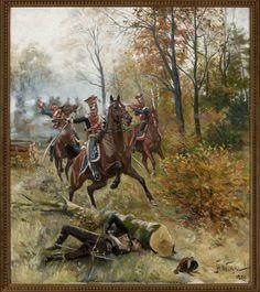 Stanisław Pomian Wolski (1859 - 1894)     Potyczka w lesie  1889