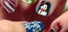Зимний маникюр на короткие ногти ::: onelady.ru ::: #nail #nails #nailart #manicure