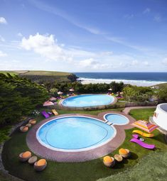Fancy a dip? Take your pick: an indoor pool, two outdoor pools AND the Atlantic on the back doorstep.