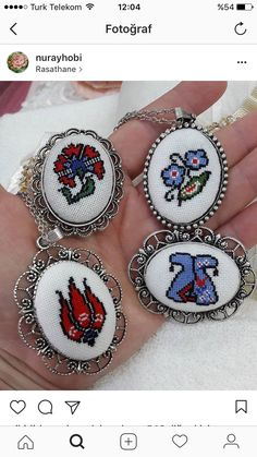 Hand Embroidery, Embroidery Designs, Cross Stitch Patterns, Needlework, Bracelets, Necklaces, Pendants, Handmade, Easter