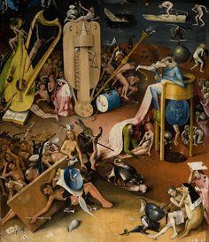 Detall de l'infern d'El jardí de les delícies (El Bosco)