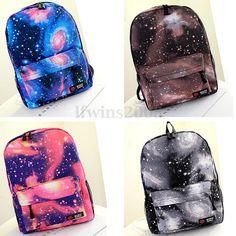 24 Estilo Mochila Bolso Bolsa Hombro para Mujers Viaje Galaxy Escolar Backpack in Ropa, calzado y complementos, Bolsos de mujer | eBay