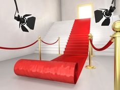 I love the idea of having a stash of feather boas, top hats, and sparkly baubles as red-carpet photo props.