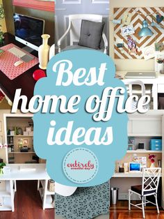 Love these DIY project ideas for my home office! entirelyeventfulday.com #office #homeoffice #desk
