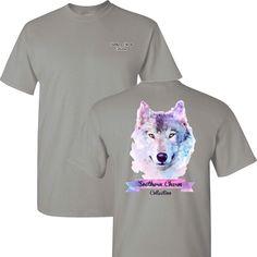 Southern Charm Wolf on a Light Grey (GRAVEL) Short Sleeve T Shirt