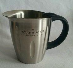 STARBUCKS COFFEE MILK FROTHING PITCHER 18OZ STAINLESS STEEL CREAMER STEAM CUP #StarbucksCoffeeCompany