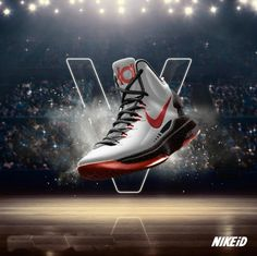 Kevin Durant shoes 2013 Nike KD V All White Sport Red