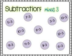 Addition and Subtraction bottle cap races. Game that has students see how fast they can cover the circle with the bottle cap with the correct answer on it.