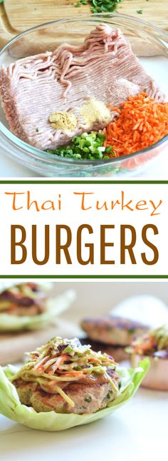 Thai Turkey Burgers #healthy #lowcarb