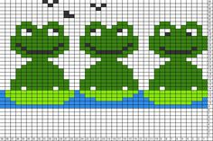 Tricksy Knitter Charts: frogs 3 (75125) (77235)