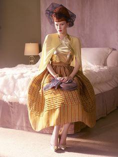 noirfacade: Hollywoodland | Karen Elson & Casey Affleck by Mario Testino for Vogue US March 2008