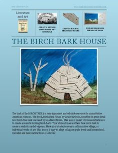 Wigwam: The Birch Bark House by Native American Activities Book Club Books, The Book, My Books, Louise Erdrich, 4th Grade Social Studies, Birch Bark, Tree Bark, Art Lesson Plans, Native American Art
