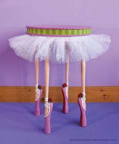 Are you planning a ballet themed baby room? Ballet Dancer Table by Patience Brewster. Art Furniture, Funny Furniture, Funky Painted Furniture, Diy Furniture Plans, Painted Chairs, Plywood Furniture, Unique Furniture, Repurposed Furniture, Furniture Projects