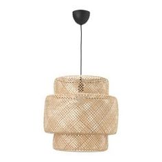 IKEA - KNIXHULT, Pendant lamp, bamboo, Gives a soft glowing light, that gives your home a warm and welcoming atmosphere. Each lamp is unique since it is made of bamboo with natural color variations and is hand-woven by skilled craftspeople. Lustre Ikea, Luminaire Ikea, Luminaire Design, Sinnerlig Ikea, Ikea Alseda, Ikea Ps 2014, Best Ikea, Led Lampe, Light Decorations