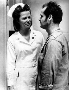 Nurse Ratched and Jack Nicholson in One Flew Over The Cookoo's Nest
