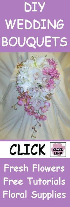 FREE FLOWER TUTORIALS!  http://www.wedding-flowers-and-reception-ideas.com/make-your-own-wedding.html  Learn how to make corsages, boutonnieres, bridal bouquets, centerpieces and church decorations!  Buy wholesale flowers and discount florist supplies.