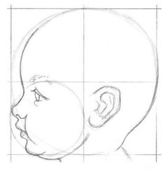 New Free of Charge portrait drawing baby Suggestions There are numerous techniques for painting portraits. Pencil Art Drawings, Art Drawings Sketches, Realistic Drawings, Drawing Skills, Drawing Lessons, Drawing Techniques, Face Profile, Poses References, Drawing For Beginners