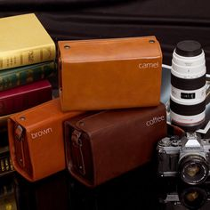 Leather Camera Bag / Leica Camera Bag / Mirrorless Camera Bag / Camera Case with Shoulder Strap  189