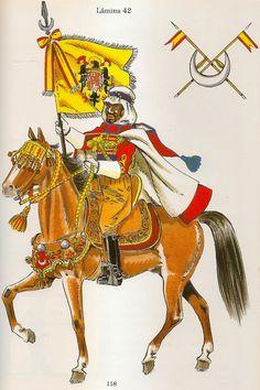 Nº 118 - Porta - Guión del 2º Tabor del Grupo Regulares de Caballeria de Tetuán. 1954. Battle, Spanish, Empire, Army, Princess Zelda, Military Uniforms, Horses, Barcelona, Pictures