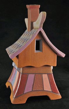 Whimsical clay house box