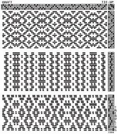 4 shaft draft | 4 H patterns | Pinterest | Winter, Striped ...