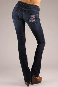 Arizona Wildcats Branded Bootcut Jeans in Deep Indigo