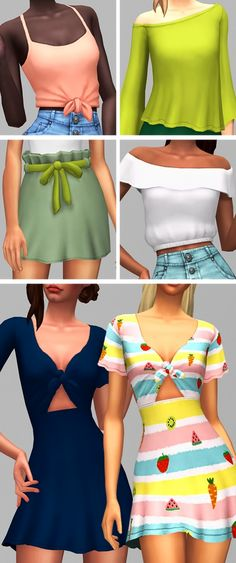 """saurussims: """"🌷🌼🌻The Equinox Collection🌻🌼🌷 by & ~ It's March, and that means it's practically spring (at least here in the northern hemisphere hehe) which in turn means. Sims 4 Cc Kids Clothing, Sims 4 Mods Clothes, Maxis, Die Sims 4 Packs, Toddler Cc Sims 4, Sims 4 Traits, Sims 4 Dresses, Party Dresses, Sims4 Clothes"""
