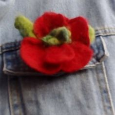 Items similar to Xmas gift idea, flower brooch or hair pin. on Etsy Felt Brooch, Flower Brooch, Flower Making, Xmas Gifts, Hippie Boho, Hair Pins, Mother Day Gifts, Felting, Flowers