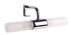AKI Bricolaje, jardinería y decoración.  Aplique baño F64  Aplique baño F64. Metal cromado y cristal. Bombillas 2 G9 40 W (no incluidas). IP21. Dim. 22 x 9,5 cm 25.95€