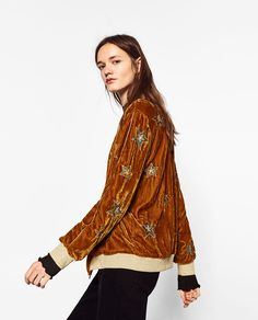 BOMBER JACKET WITH EMBROIDERED STARS-Jackets-OUTERWEAR-TRF | ZARA United States