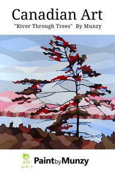 Discover truly Canadian contemporary art by Kitchener Waterloo artist Jonathan Munz. Affordable, ready to hang canvas prints shipped to your door. Landscape Art, Landscape Paintings, Pine Tree Art, Fireplace Art, Tree Paintings, Oil Pastel Art, Watercolor Trees, Retail Interior, Canadian Artists