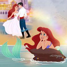 Princesa Ariel Disney, Disney Princess Ariel, Disney Nerd, Disney Fan Art, Princesas Disney, Disney Love, Walt Disney, Ariel Wallpaper, Modern Disney Characters