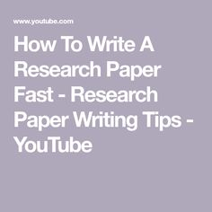 How To Write A Research Paper Fast - Research Paper Writing Tips - YouTube Pin for later! kindergarten writing paper, paper writing service, paper writing services, write a research paper, paper writing Paper Writing Service, Writing Paper, Writing Tips, Writing Prompts, Write My Paper, Academic Writing Services, College Survival, Masters Programs, Kindergarten Writing