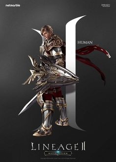 [2016] Poster : 리니지2 : 레볼루션 _ 캐릭터 포스터_ 휴먼 Designer: YewonKim Copyright ⓒ netmarble games corp. Allright Reserved. #promotion #game #lineage2 #리니지2 #poster #human #character