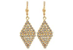 Chartres Diamond-Shape Pavé Earrings on OneKingsLane.com