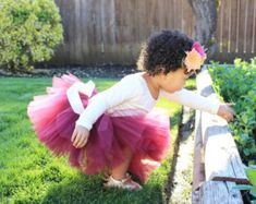 Cranberry tutu - infant tutu - toddler tutu - full tutu - fall tutu - baby tutu…
