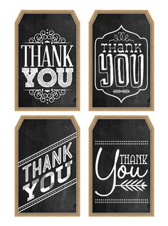 Free Printable Thank You Chalkboard Tags & a Happy Thanksgiving - The Cottage Market