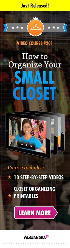 [VIDEO COURSE]: How to Organize Your Small Closet
