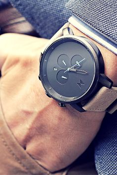 Product/Industrial Design Inspiration – [pin_pinter_full_name] Product/Industrial Design Inspiration MVMT Chrono Gun Metal/Sandstone Leather Stylish Watches, Luxury Watches, Cool Watches, Watches For Men, Casual Watches, Men's Accessories, Mvmt Watches, Cartier Watches, Antique Watches