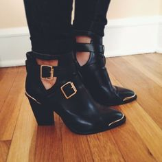 these cut out boots would be cool in the fall, too, with bright stockings adding interest.