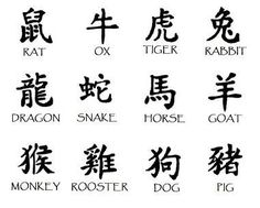 Chinese Zodiac Signs - The 12 Animals