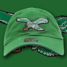 Philadelphia Eagles Vintage Kelly Green Adjustable Dad Hat e1b50a73c908