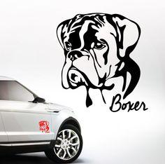 AWILPORT Auto Aufkleber BOXER Portrait Hund Hunde WILSIGNS Siviwonder
